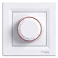 Светорегулятор поворотный с подсветкой 600 Вт белый Asfora EPH6500121