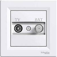 Розетка TV-SAT крайова біла Asfora EPH3400121