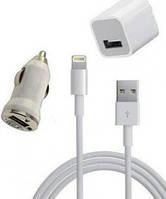Зарядное устройство Powerplant USB - Lightning (iPhone 5) 12V+220V+kab, 1A DV00DV5041