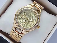 Женские наручные часы Guess золотого цвета, дополнительные циферблаты