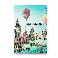 """Обложка для паспорта """"Вокруг света"""" / дизайнерская обложка на паспорт / эксклюзивная обложка на паспорт"""
