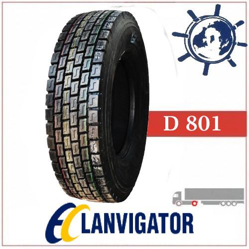 Шина 245/70R19.5 136/134K D801 LANVIGATOR ведуча, грузовые шины на тягу, ведущие шины усиленные