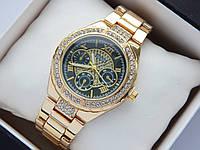 Женские наручные часы Guess золотого цвета, черный циферблат
