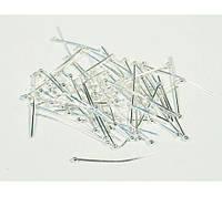 Бижутерные булавки с шариком, 32 мм, Серебро (10 гр.)