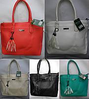 Женская сумочка матовая с плашкой