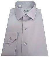 Мужская рубашка приталенная из сатина -  № 10-12 - 606/14-4106