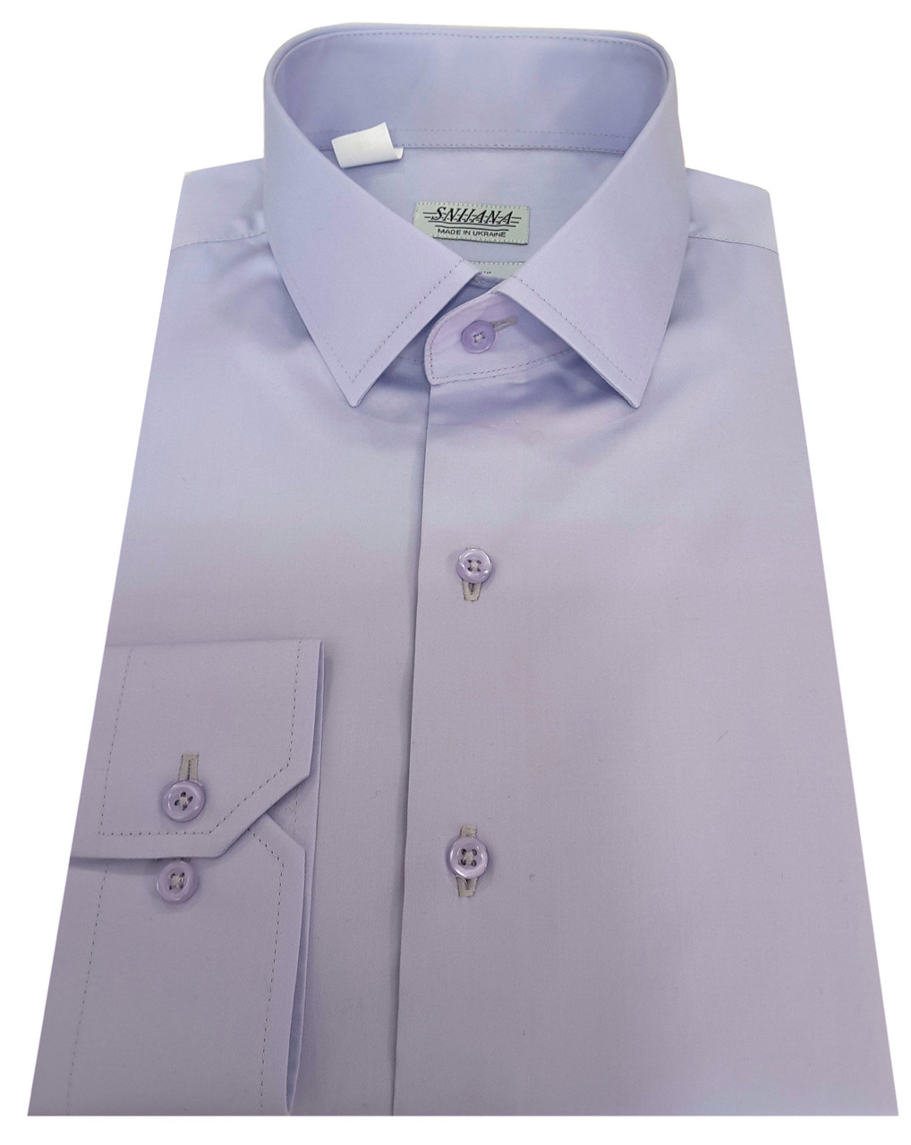 Мужская рубашка приталенная из сатина  606/14-3911
