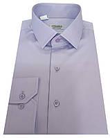 Мужская рубашка приталенная из сатина -  № 10-12 - 606/14-3911