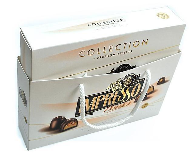 Подарочный набор шоколадных конфет Impresso белый 424г