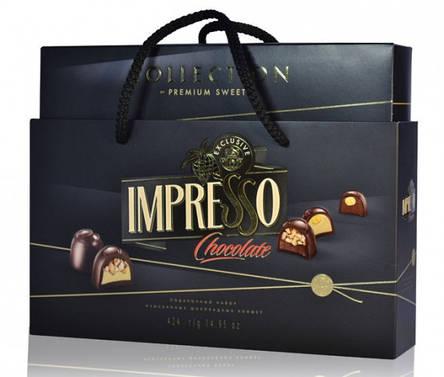 Подарочный набор шоколадных конфет «Impresso», черный 424гр, фото 2
