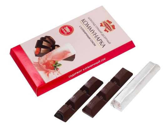 Элитный шоколад Коммунарка с клубничным соком из Беларуси, фото 2