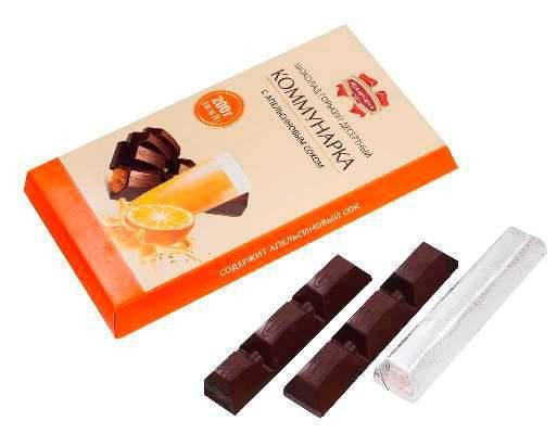 Элитный шоколад Коммунарка с апельсиновым соком из Беларуси, фото 2