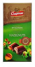 Шоколад Спартак молочный с цельным фундуком (90г)