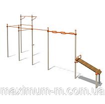 Гімнастичний спортивний комплекс з рукоходом