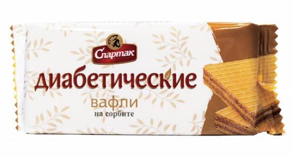 """Вафли диабетические """"Спартак"""" на сорбите 72гр, фото 2"""