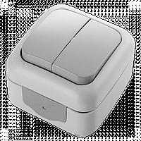 Выключатель накладной серый 2-кл Palmiye Viko, 90555502
