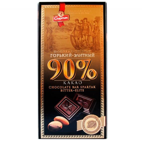 Шоколад Спартак горький 90% (пенал)