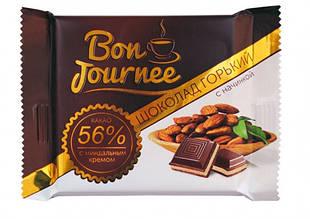 Шоколад «Bon Journee» горький с начинкой миндальный крем 80гр