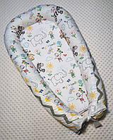Гнездышко кокон babynest позиционер для новорожденного мои друзья