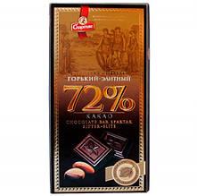 Шоколад Спартак Горький-Элитный 72% (пенал)