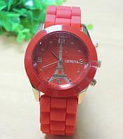 Часы Женева красные