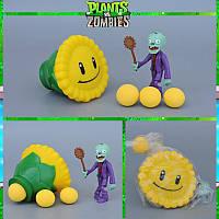 Растения против зомби | Plants vs Zombies Игровой набор №3 Подсолнух (Растения стреляют шариками, 40+ видов)
