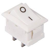 Переключатель клавишный KCD1-101  White/White 1 клав. (белый)