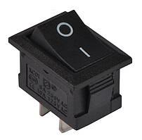 Переключатель клавишный KCD1-101 B/B 1 клав. (черный)