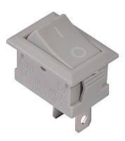 Переключатель клавишный KCD1-101 Grey/Grey 1 клав. (серый)
