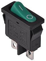 Переключатель клавишный KCD1-12-101 GR/B 1 клав. (зеленая овальная клавиша)