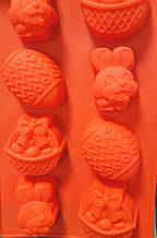 Силиконовая форма корзинка, заяц, яйцо 29*16,5