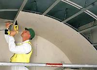 Установка падуги до 5 см на потолок
