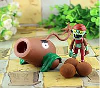 Растения против зомби | Plants vs Zombies Игровой набор №21 Кокосовая пушка (Растения стреляют шарикам)