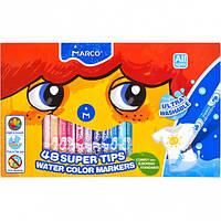Фломастеры 48 цветов Super Washable Marco 1630-48СВ/36475