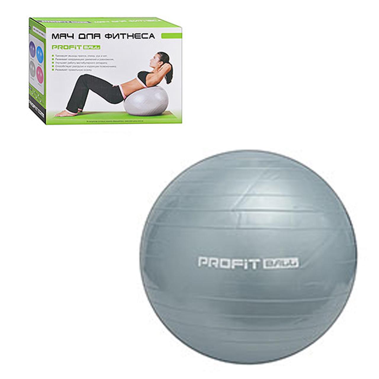 Мяч для фитнеса 65 см серый