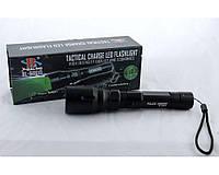 Фонарик ручной Bailong BL Q8610 анодированный алюминий, 500 л, три режима (50%, 100%, стробоскоп, Zoom), от аккумулятора / от батареек