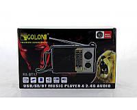Радиоприемник Golon RX BT18 Bluetooth, SD, USB, радио, 5 Вт, 1000 мАч, от сети 220v, mini jack 3.5 мм, 400 гр, фото 1