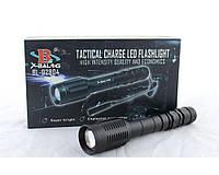 Фонарик ручной Bailong BL Q2804 T6 police, режим 100%, Zoom, анодированный алюминий, влагостойкость, от аккумулятора / от сети, фото 1