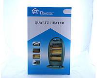 Электро обогреватель Domotec Heater MS NSB 120 черный, 3 режима (400ВТ, 800ВТ, 1200ВТ), 1200Вт, до 22 м, термостат, защита от перегрева, фото 1