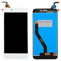 Дисплей модуль Huawei Honor 6A в зборі з тачскріном білий