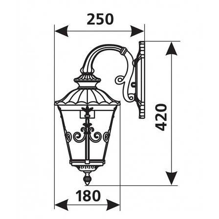 Садово-парковый светильник DeLux PALACE 1131B1-S, фото 2