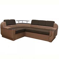 Угловой диван Garnitur.plus Барселона коричневый 255 см