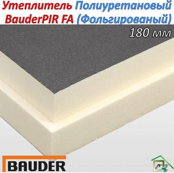 Теплоизоляционная плита BauderPIR FA 180мм (Фольгированный)