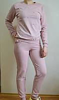 Женский спортивный костюм цвета пудры