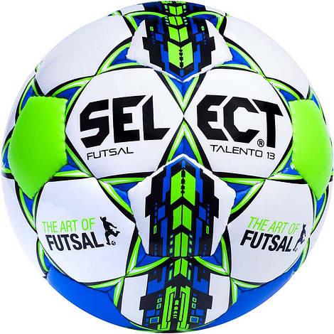 Детский футзальный мяч Select Futsal Talento13 размер 3 бело-зелено-синий