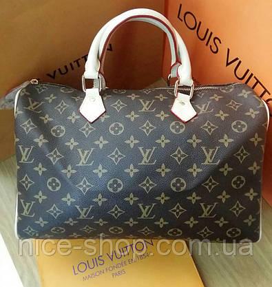 Cумка Люкс-реплика Louis Vuitton Speedy Large 35 см, монограмм классика, фото 3