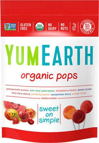 Органические леденцы - Yum Earth Organic Pops - 8 вкусов