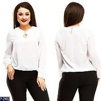 Блузка (50, 52, 54, 56) —  креп-шифон купить оптом и в Розницу в одессе 7км
