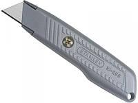 Нож строительный с выдвижным трапециевидным лезвием 18мм Stanley, 136 мм