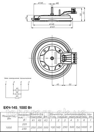 Электроконфорка ЭКЧ 145-1,0/220, фото 2